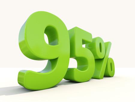95: Ninety five percent off. Discount 95%. 3D illustration.