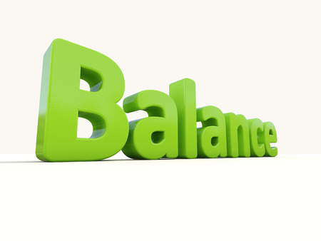 mental object: Balance de Word en un fondo blanco. Ilustraci�n 3D. Foto de archivo