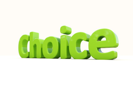 appoint: Word choice on a white background. 3D illustration.