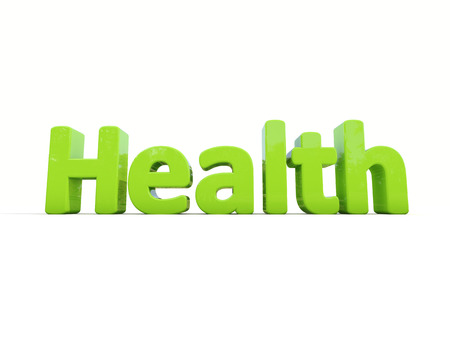 healthfulness: Word health icon on a white background. 3D illustration.