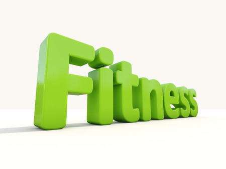 soundness: Word fitness icon on a white background. 3D illustration.