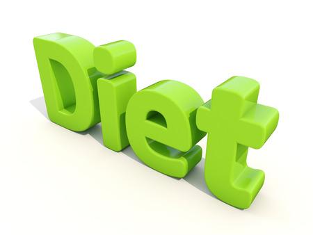 abstinence: Icona dieta Word su sfondo bianco. Illustrazione 3D.