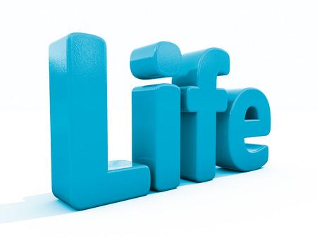 lifeblood: Word life icon on a white background. 3D illustration. Stock Photo
