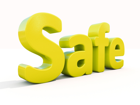 regenerated: Word safe icon on a white background. 3D illustration.
