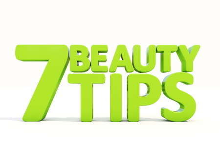 goodliness: Beauty tips con on a white background. 3D illustration.