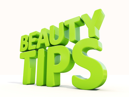 sumptuousness: Beauty tips con on a white background. 3D illustration.