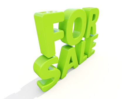 vend: For sale icon on a white background. 3D illustration Stock Photo