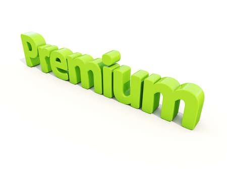transcendent: Word premium icon on a white background. 3D illustration.
