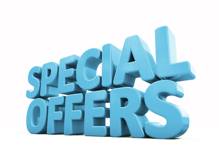 Special offers icon on a white background. 3D illustration Imagens - 27420593