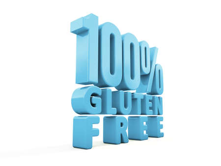 susceptibility: 100% Gluten Free icon on a white background. 3D illustration