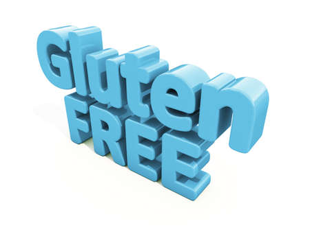 susceptibility: Gluten Free icon on a white background. 3D illustration