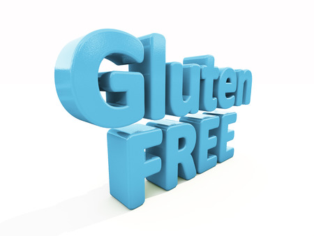 hypersensitivity: Gluten Free icon on a white background. 3D illustration
