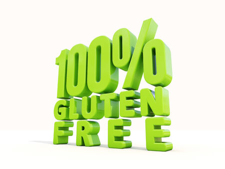 hypersensitivity: Gluten Free icon on a white background. 3D illustration