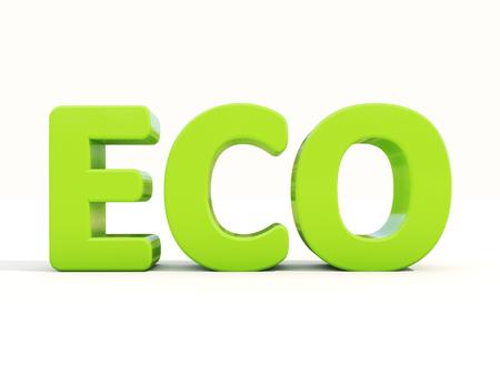 mundane: Eco icon on a white background. 3D illustration