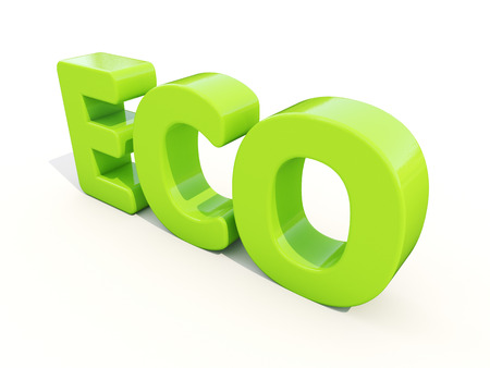 earthly: Eco icon on a white background. 3D illustration