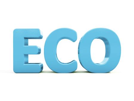 terrena: Icona Eco su uno sfondo bianco. Illustrazione 3D