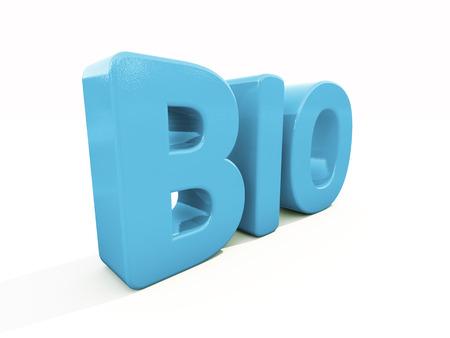 mundane: Bio icon on a white background. 3D illustration