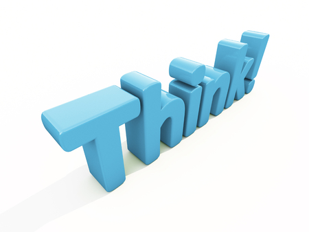 Think icon on a white background. 3D illustration illustration
