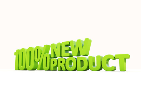 outgrowth: Fresh Product icon on a white background. 3D illustration Stock Photo