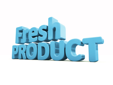 bidding: Fresh Product icon on a white background. 3D illustration Stock Photo