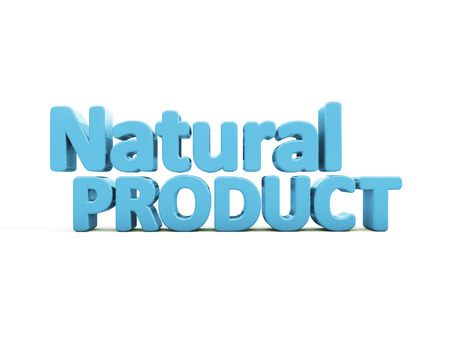 bidding: Natural Product icon on a white background. 3D illustration