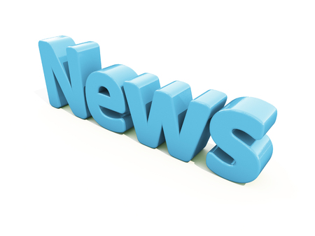 fracas: News icon on a white background. 3D illustration