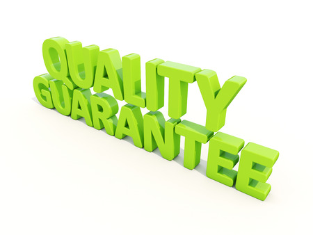 trait: Quality guarantee icon on a white background. 3D illustration Stock Photo
