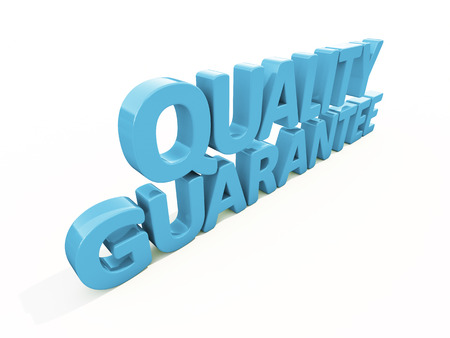 warrant: Quality guarantee icon on a white background. 3D illustration Stock Photo
