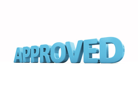 assert: Approved icon on a white background. 3D illustration Stock Photo