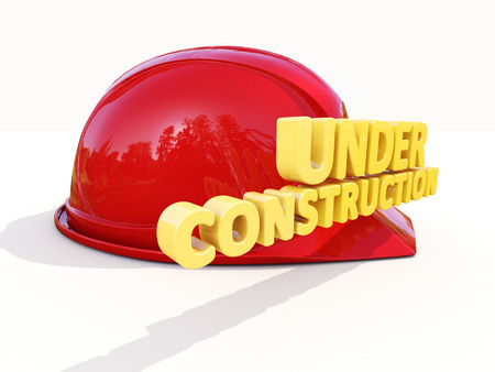 reconsideration: Sign under construction isolated