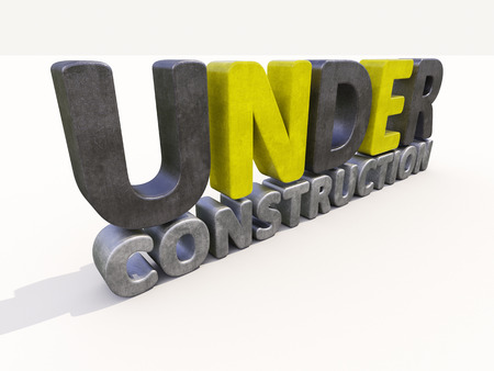 major overhaul: Sign under construction isolated  Stock Photo