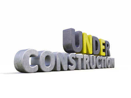 Sign under construction isolated  Stock Photo