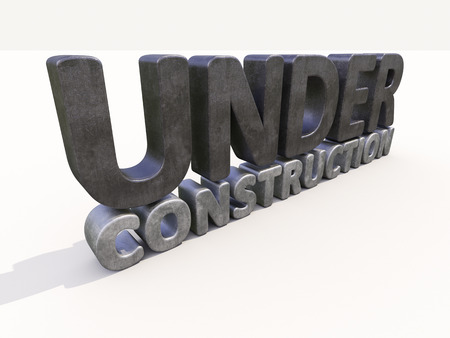 Sign under construction isolated