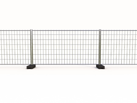 backstop: Wire mesh fence isolated on a light background