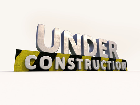 Sign under construction isolated  on white background Stock Photo