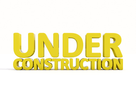 major overhaul: Sign under construction isolated  on white background Stock Photo
