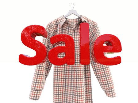 Sales and shirt on a light background photo