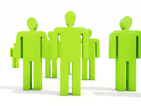 layman: A crowd of people on a white background Stock Photo