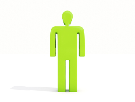 subservience: Figure of a man on a white background
