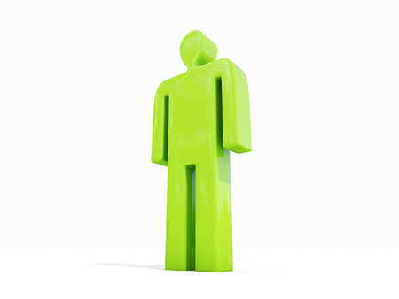 layman: Figure of a man on a white background