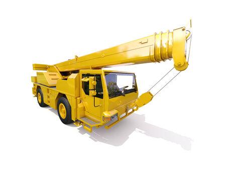 facilitate: Truck Mounted Crane on white background