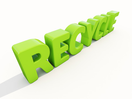 salvaging: 3d word recycle on a white background
