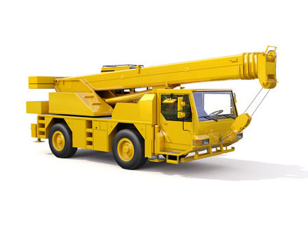 Truck Mounted Crane on white background