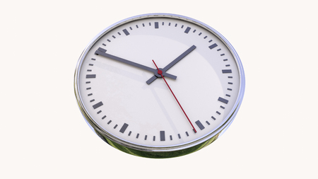 nicety: Clock isolated on a white background Stock Photo