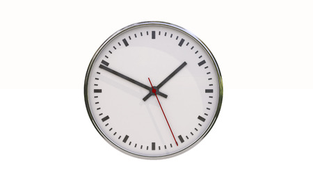 exactitude: Clock isolated on a white background Stock Photo