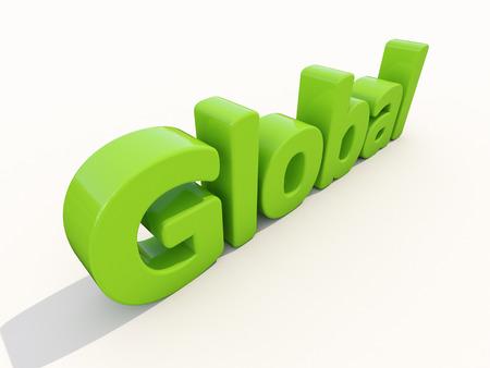 mondial: Global word on a white