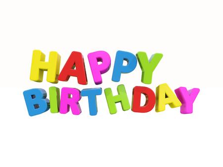 mirth: The phrase Happy Birthday on %u0430 white