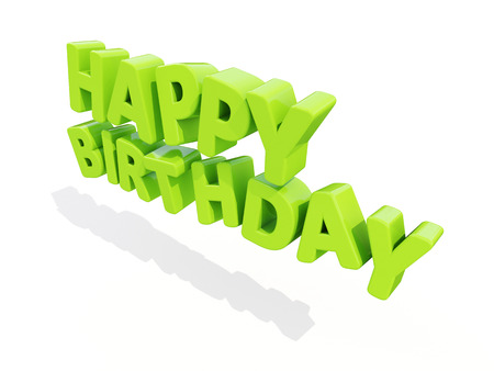mirth: The phrase Happy Birthday on а white background