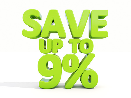 The phrase Save up to 9% on %u0430 white