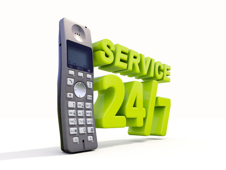ensuring: Phone services online. Call us right now Stock Photo